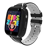 MeritSoar Kids Smartwatch with GPS LBS Double Positioning Tracker Phone Call Waterproof Smart Watch for Kids SOS Games Camera Pedometer Voice Messages Flashlight Alarm Clock for 3-12 Years Old Kids