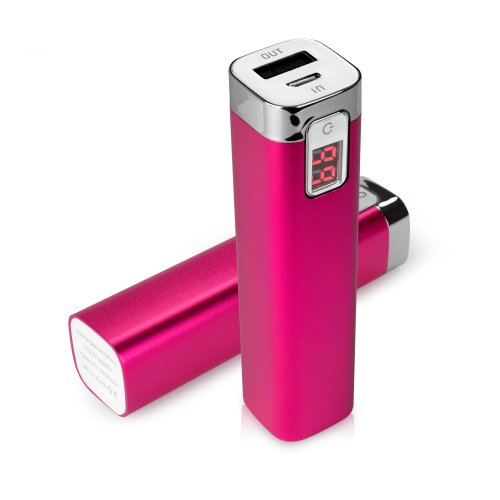 BoxWave Rejuva Power Pack Apple iPhone 6 Power Bank - Universal, Portable 2600 mAh Rechargeable Li-ion Apple iPhone 6 Battery Charger/Power Bank with Backlit Digital LED Power Display and Built In High Output USB Ports (Cosmo Pink)