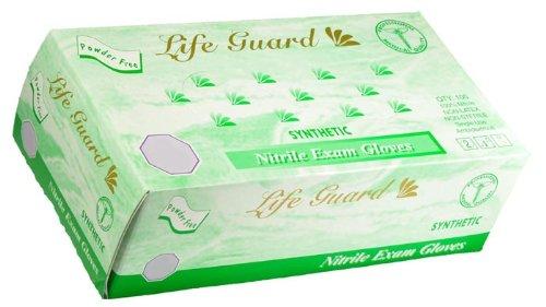 Life Guard - Nitrile Medical Exam Gloves, Powder Free - Box Size Large