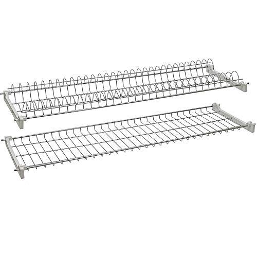 13901 Estante Escurridor de platos y vasos para mueble alto de acero 76cm