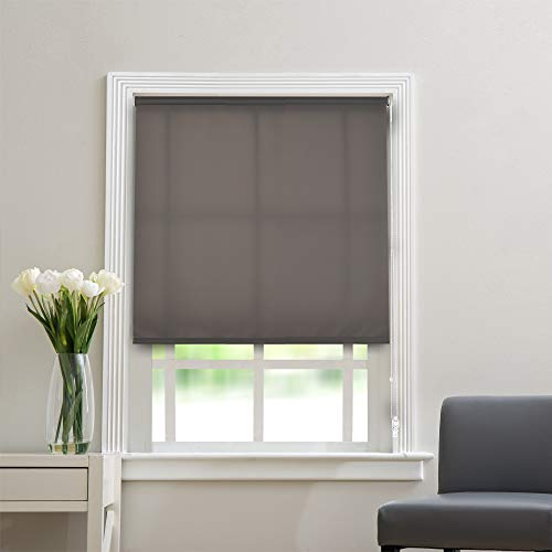 """Deco Window Polyester Blend Non-Blackout Roller Blinds for Windows (36"""" Wide X 84"""" Long, Grey)"""