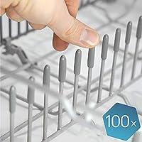 """Las tapas lavavajillas originales de Plemont® [pack de 100] - Tapas accesorios universal de lavavajillas """"Made in Germany"""" - repuestos de protección extra fuerte contra la oxidación"""