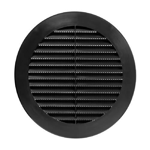 Ø 150mm Schwarz Lüftungsgitter Abluftgitter Insektenschutz Rund Flansch Kunststoff