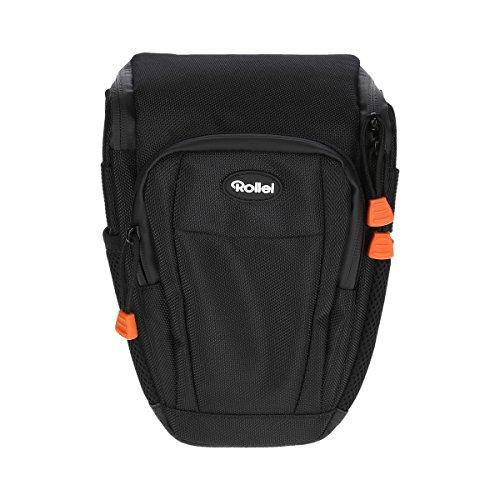 Rollei Fotoliner Holstertasche L (Hochwertige, gepolsterte Kameratasche zum Transportieren Ihrer DSLR Kamera, mit Tragegurt und Regenschutz, 16 x 12 x 23 cm)
