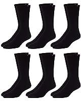 Calvin Klein Men's 6 Pair Bonus Athletic Crew Socks, Black, Shoe Size 7-12