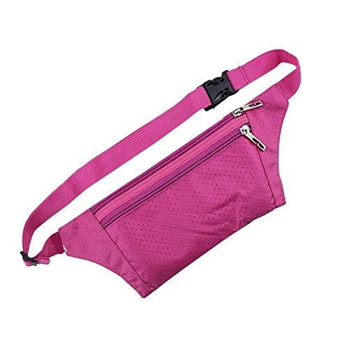 ZKDY Outdoor Sport Ricreativi Maschile Multi -Funzionale Grande Capacità Di Funzionamento Purse,Rosso Rosa