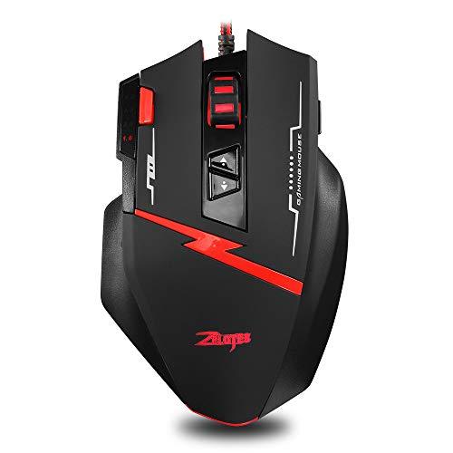 Mbuynow Wired Gaming Mouse, mouse ergonomico da gioco con 8 tasti programmabili che si rivolgono ai giocatori professionisti