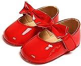 Zapatos Recien Nacido Antideslizante Bailarinas Princesa Bowknot Bebé Niñas Rojo 0-6 Meses
