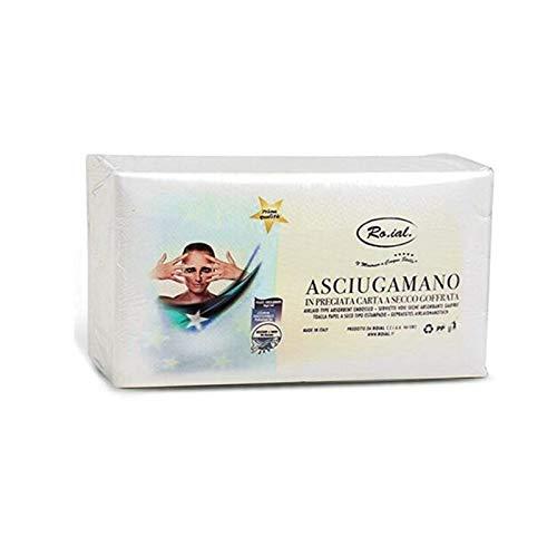 VIRSUS 1 Confezione da 60pz di Asciugamani di Carta a Secco Goffratura a S 35x67cm Monouso Massima Assorbenza per Parrucchieri, Barbieri, Estetiste