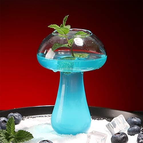 BBTY Copa de cóctel de diseño de Hongos 380ml, Taza de Bebidas novedosas para la Fiesta de la Noche de la Barra KTV (Color : A)