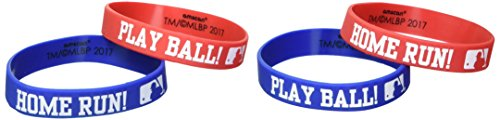 Best Buy! amscan MLB Collection Rubber Bracelets, Party Favor, 144 Ct.