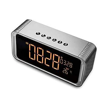 Bluethooth Speaker Wireless Speaker with Alarm Clock,Handsfree HD Call FM Radio Rich Bass USB Charging Port for Bedside Desktop Indoor Portable Outdoor