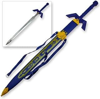 Legend of Zelda Elf Knight Master Warrior Sword Blue Replica Wild Cosplay Handmade