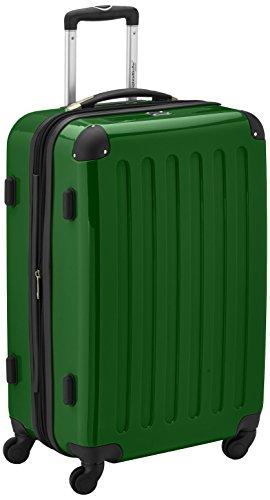 HAUPTSTADTKOFFER - Alex - Hartschalen-Koffer Koffer Trolley Rollkoffer Reisekoffer Erweiterbar, 4 Rollen, TSA, 65 cm, 74 Liter, Grün