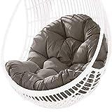 LIUDADA Coussin de chaise suspendue épais et doux - Pour jardin, maison, terrasse, patio, 80 × 120 cm (gris)