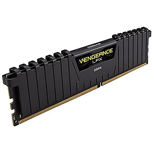 Mémoire de Bureau Corsair Vengeance LPX 64 Go 4 x 16 Go DDR4 3200 PC4 25600 C16 1,35 V Black