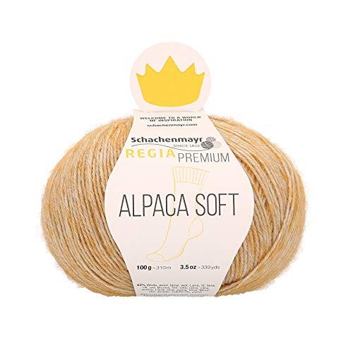 Regia Premium Alpaca Soft Wool 9801631-00040, color: gold, presentación: 100g, Hilos para tejer a...