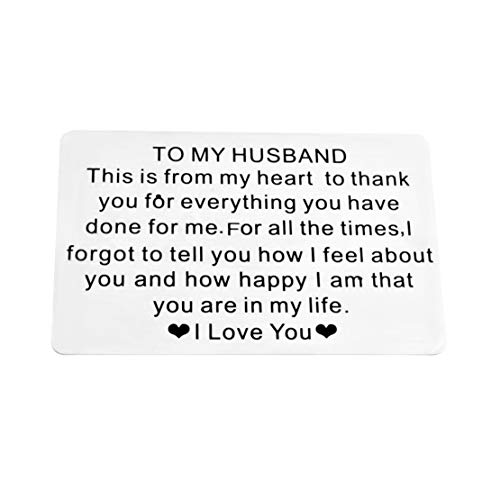 Anniversary Wallet Card Engraved Wallet Insert Gifts for Men Gifts for Boyfriend Gifts for Him Gifts for Husband Valentines Day Gifts Romantic Love Card Birthday Gifts Ideas Personalized Gifts for Men