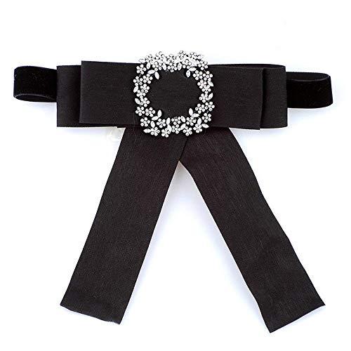 ZHAOSHUNAN Krawatten Damen Hemdkragen Fliege Handgemachte Krawatte Blumenrhinestone-Kristallschmetterlings-Band-Bogen @ B