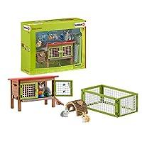 シュライヒ ファームワールド ウサギ小屋セット フィギュア 42420