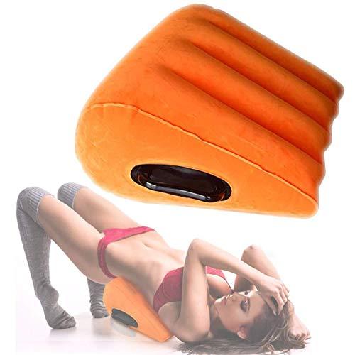 Šêx - Almohada de cuña para muebles hinchables triangulares para Ädlt, color naranja