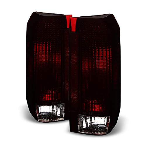 ACANII - For Red Smoke 1987-1996 Ford F150 F250 Bronco Tail Lights Brake Lamps...