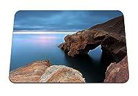 22cmx18cm マウスパッド (岩海岸海の地平線水の表面雲空空) パターンカスタムの マウスパッド