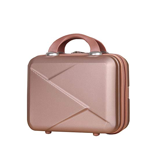 zyl Hard Shell Vanity Make Up Beauty Case Suitcase ABS Luggage Case,Gold-32cm*23cm*14cm
