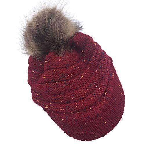 Huacat Damen Herren Winter Beanie Strickmütze Mütze Wurm Fleece Fashion Ski Trendiges Strickmuster Fleece Innenseite Strickmütze klassische