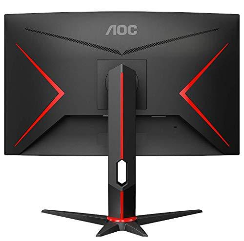 AOC Gaming CQ27G2U – 27 Zoll QHD Curved Monitor, 144 Hz, 1ms, FreeSync Premium (2560×1440, HDMI, DisplayPort, USB Hub) schwarz/rot - 6