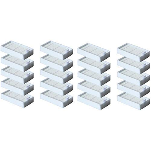 De Galen Piezas de repuesto 20 piezas de filtro Hepa para V5 V5S V3 V3S V5Pro V50 V55 X5 V5S Pro Robot Aspiradora Piezas Accesorios de aspiradora