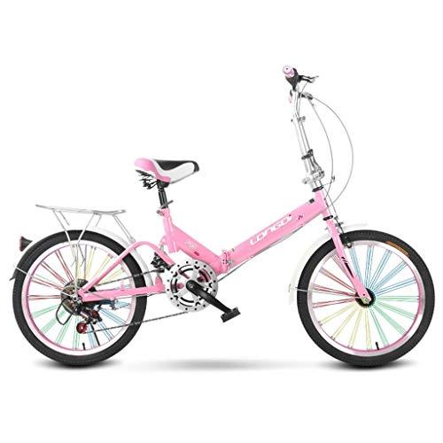 Xiaoping Klapprad 20 Zoll Erwachsener Single Speed Heller beweglicher Männer und Frauen Stoßdämpfer Fahrradkinderfahrradkinder Folding Fahrrad (Color : 1)