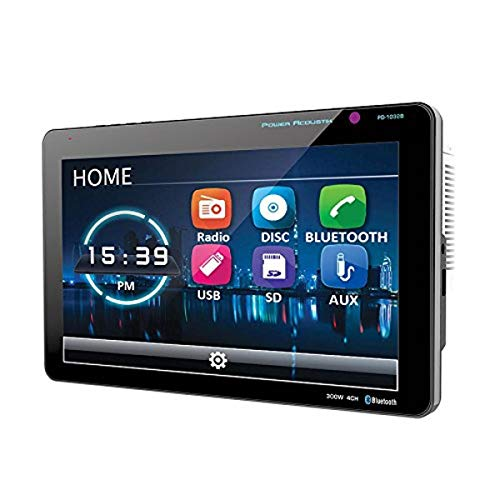 Power Acoustik PD-1032B 2-Din Source Unit with Bluetooth/Detachable 10 Inch LCD