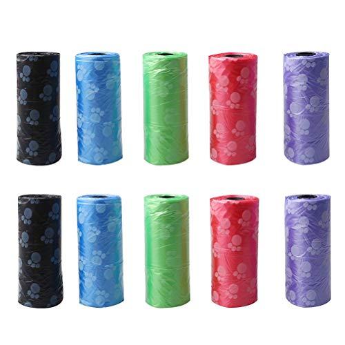 berglink 150 Beutel Haustier Kotbeutel, 5 Farbe Leicht Trennbare Hundekotbeutel klein Kotbeutel für Hunde (10 Rolle)