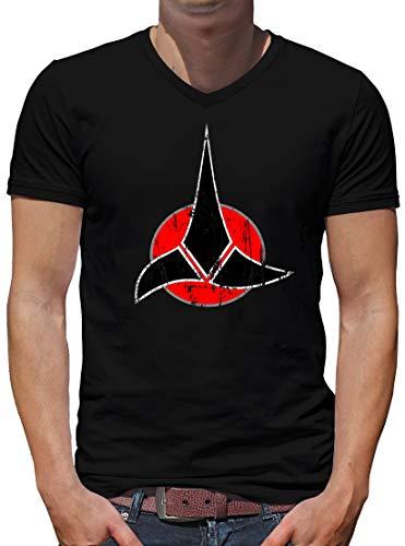 T-shirt-People ringoner symbol V-krage t-shirt män