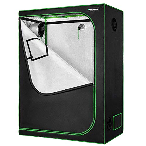 VIVOSUN 60'x32'x80' Grow Tent Mylar Hydroponic Grow Tent with Observation Window and Floor Tray for Indoor Plant Growing
