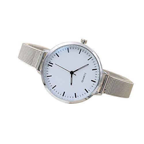 #N/V Reloj creativo de malla retro Gd100B de cuarzo con esfera redonda de lujo y precisión de cuarzo, exquisita mano de obra, escala de tuerca, L: 23 cm