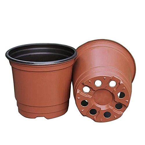 KINGLAKE 50 Stück weicher Plastik Pflanztöpfe 15 * 15 * 13CM Kunststoff Pflanzentöpfe Pflanzkübel zur Sämlinge Aussaat