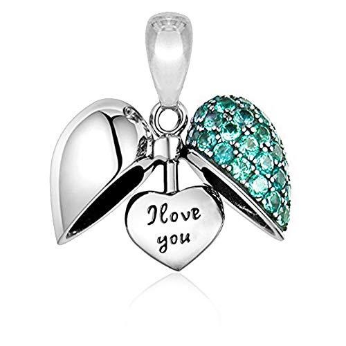 I Love You Herz Charm - Sterling Silber S925 Charm für Damen Pandora Armband