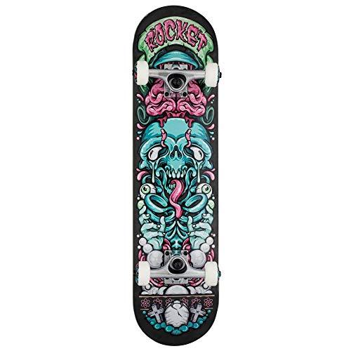 skateboard 7.75 ROCKET Skate Completo Bones Pile-Up Green 7.75