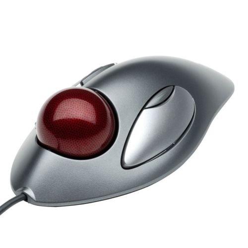 Logitech Trackman Marble Trackball Maus L/R Hand USB 4Tasten kabelgebunden