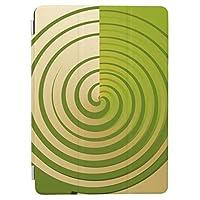 RECASO抽象芸術アートカキグリーンスワールストライプ iPad Mini/iPad Mini 2 /iPad Mini 3 ケース 高級品質 タブレット レザー PU 傷つけ防止 防衝撃 スマートカバーiPad mini1/2/3 カバー