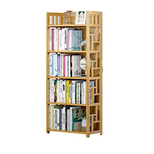 caihuashopping Libreros estantes Modernos Estantería 3,4,5-Nivel de bambú estantería de Almacenamiento de baño ShelvesStand for Pasillo Librerías organizadora libreros (Size : 80 * 143cm)
