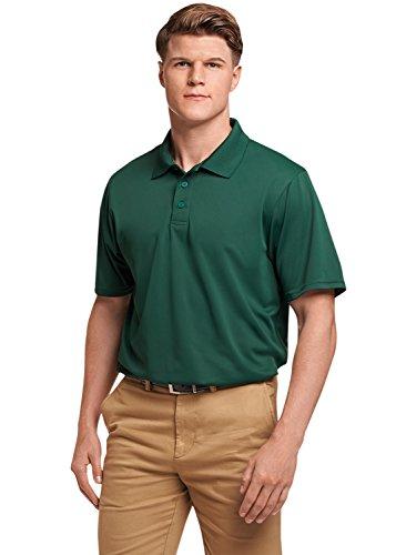 Russell Athletic Men's Standard Dri-Power Performance Golf Polo, Dark Green, 4XL