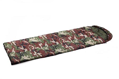 Xin.S Sacs De Couchage Camouflage Portables Avec Des Sacs Compressés Enveloppes Imperméables Légères Camping Voyages Ou Activités De Plein Air Sacs De Couchage,A-(180+30)*75cm(0.95kg)
