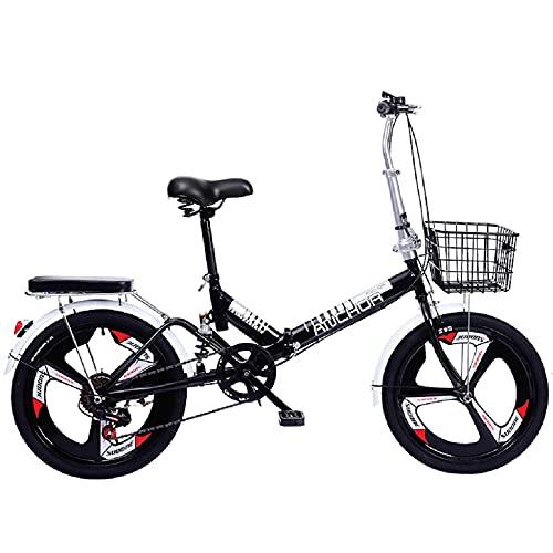 WFSH *** Reforzado con Magnesio Ronda de Aleación de Uno,una Ciudad de Neumáticos Profesional Bicicleta 20 Pulgadas de Cercanías Pequeño Plegable Hombres Y Mujeres Adultos Peso Ligero Mater