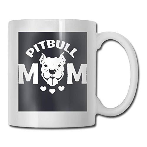 N\A Pitbull Mom Ultra White Keramik Lustige Kaffeetasse Kurze Tasse Mark Tasse Einzigartige Kaffee Oz Kaffeetasse