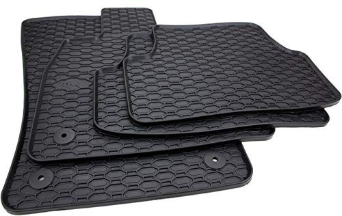 Automatten-Experts 810/4C - Passgenaue Auto-Gummimatten mit Befestigungen für die Fahrer- und Beifahrermatte 4-teilig
