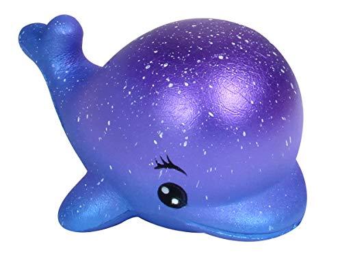 Alsino Squishies Squishy Anti Stress Squishie Knautschi Squeeze Spielzeug Slow Rising zum Drücken Stressabbau Kinder & Erwachsene, Variante wählen:SQ-251 Wal Galaxy