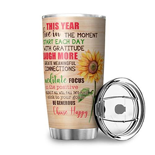 Bohohobo Choose Happy Red Creative - Vaso de té de acero in